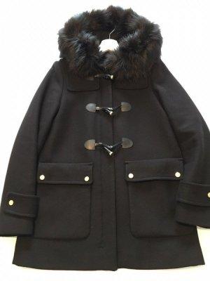Zara Wool Jacket black-gold-colored wool