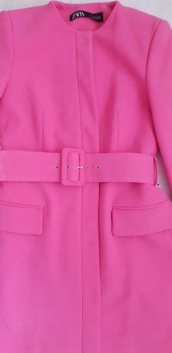 Zara Geklede jurk neonroos