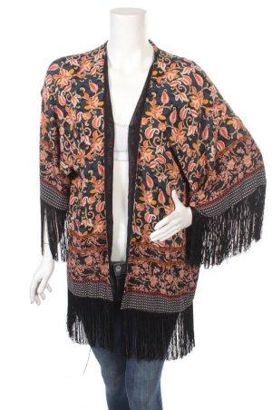 Zara Mantel Jacke M mit Ornament Kimono Bluse Tunika