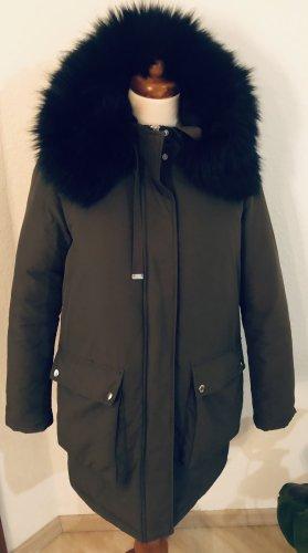 Zara Fake Fur Coat khaki