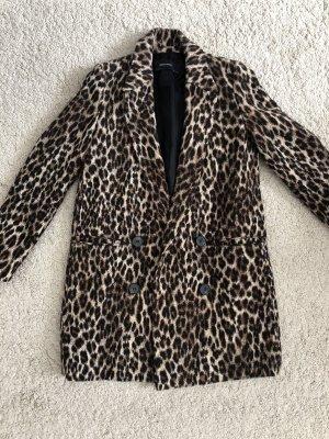 Zara Mantel Leopard Leomantel braun Blogger beige