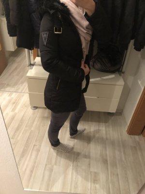 Zara Cappotto con cappuccio nero