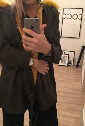 Zara Mantel mit Kuschel Fell