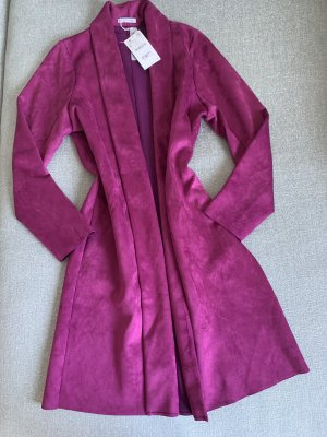 Zara Manteau en cuir violet