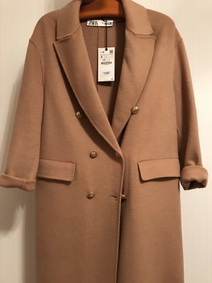 Zara Manteau en laine chameau-doré