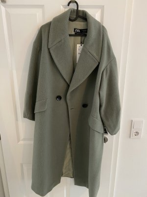 Zara Oversized Coat sage green