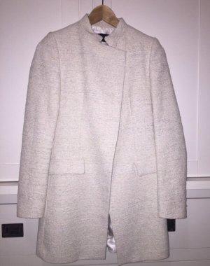 Zara Kurtka przejściowa w kolorze białej wełny-jasnobeżowy