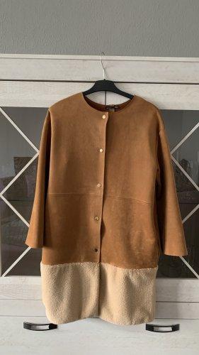 Zara Woman Płaszcz oversize camel