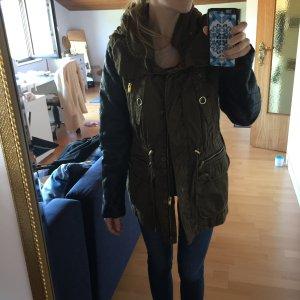 Zara Cappotto con cappuccio multicolore