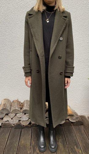 Zara Płaszcz oversize ciemnozielony