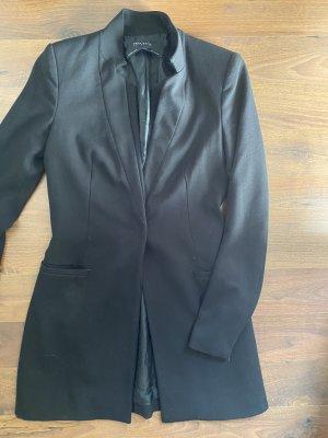 Zara Krótki płaszcz czarny