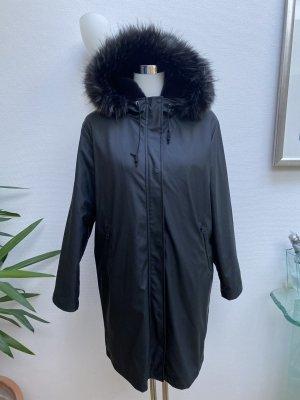 Zara Płaszcz przeciwdeszczowy czarny