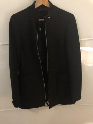 Zara mantel schwarz mit Kragen