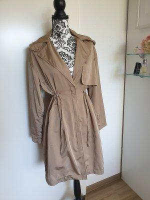 Zara Płaszcz oversize taupe-szaro-brązowy
