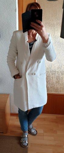 Zara Basic Frock Coat white