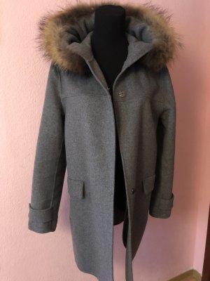 Zara Hooded Coat dark grey
