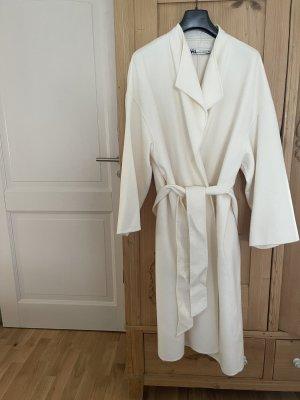 Zara Manteau en laine blanc cassé