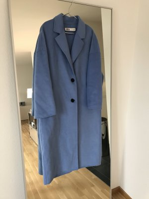 Zara Wool Coat neon blue