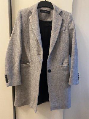 Zara Quilted Coat light grey-grey