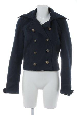 Zara Granatowa kurtka ciemnoniebieski Styl klasyczny