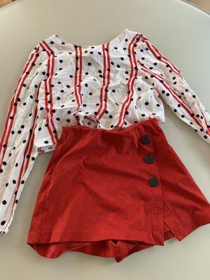 Zara Skaterska spódnica czerwony-biały