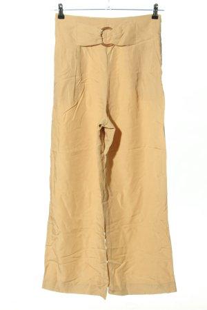 Zara Pantalón anchos amarillo pálido