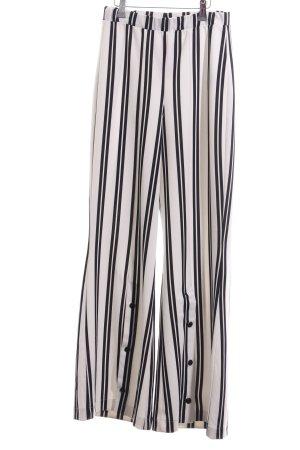 Zara Marlenehose weiß-schwarz Streifenmuster Casual-Look