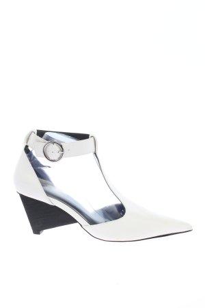Zara Mary Jane Pumps weiß Casual-Look