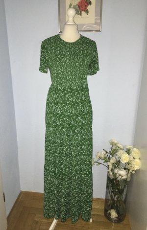Zara Maxi Chiffon grünes Kleid