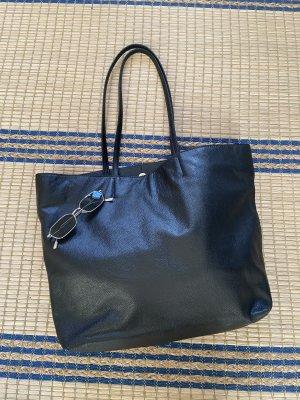 Zara maxi Echtleder weiche große Shopper Tasche mit Hänkel
