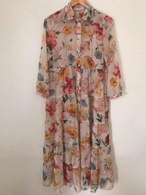 Zara Maxi Kleid Blumen Stufen Gr. M neu mit Etikett