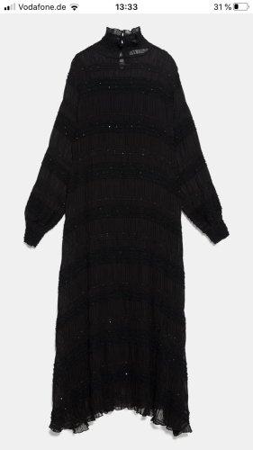 Zara maxi kleid mit pailletten