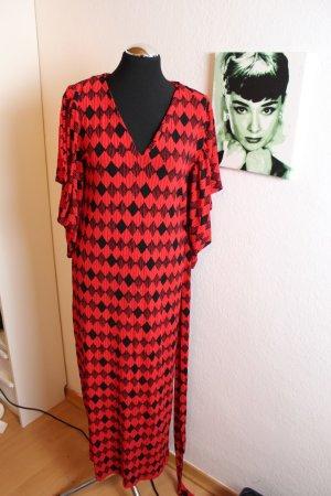Zara Maxi Kleid Rot Schwarz Gr.S