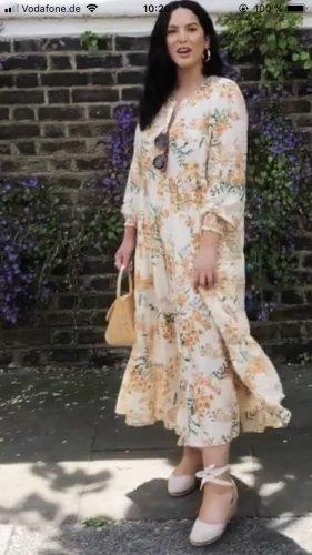 Zara Maxi Kleid Sommer floral Blumen Blogger neu Gr. S