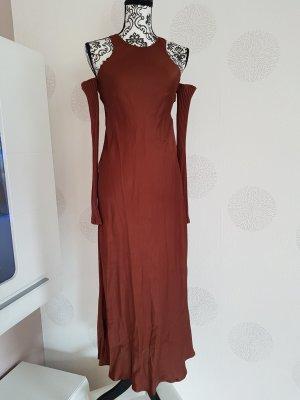 Zara maxi Kleid Sommer Gr.S 36 rostbraun