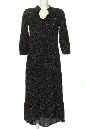 Zara Maxikleid schwarz-weiß Punktemuster Casual-Look