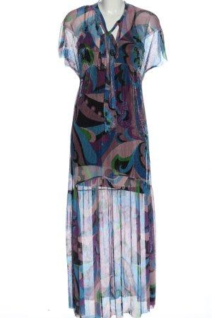 Zara Maxikleid abstraktes Muster Casual-Look