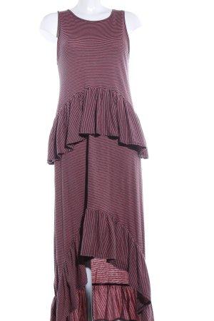 Zara Maxikleid pink-schwarz Allover-Druck Casual-Look