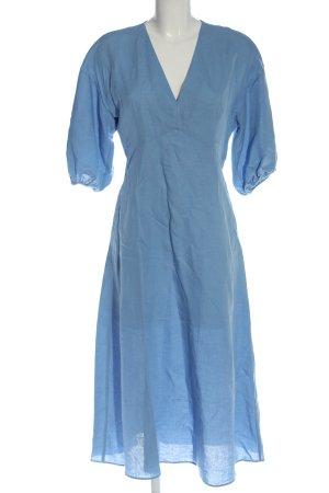 Zara Maxikleid blau Allover-Druck Casual-Look