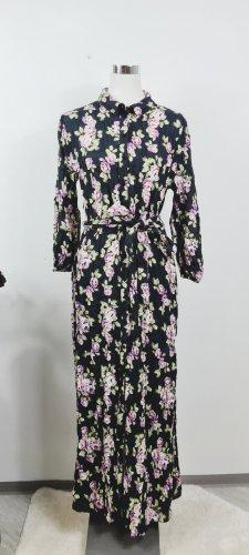 Zara/ Maxikleid/ Größe L/ Schwarz mit Blumen