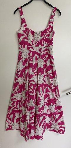 Zara Robe longue rose-blanc