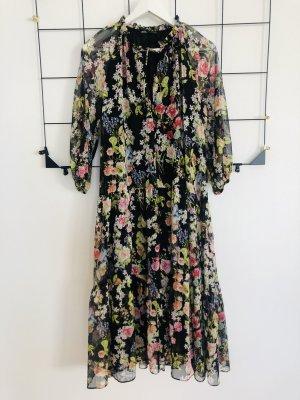 Zara Maxikleid Maxi langes Kleid Sommerkleid Blümchen