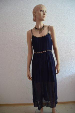 Zara Maxikleid mit Perlenstickerei