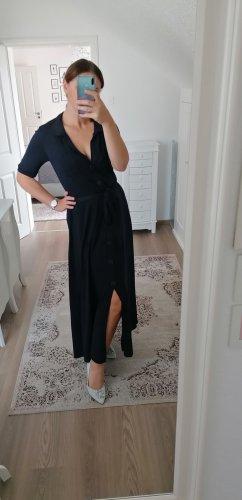 Zara Gebreide jurk donkerblauw