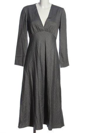 Zara Maxikleid weiß-schwarz Streifenmuster Casual-Look