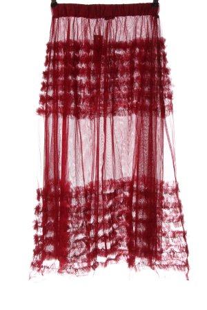 Zara Tüllrock rot Elegant