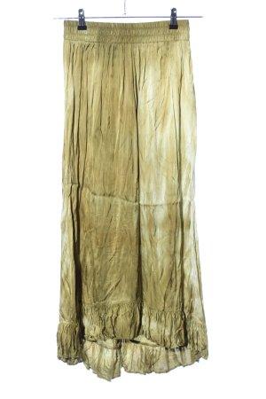 Zara Falda larga amarillo pálido-caqui degradado de color look casual