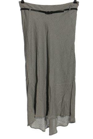 Zara Falda larga negro-blanco puro estampado repetido sobre toda la superficie