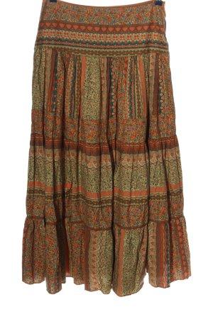 Zara Maxi Skirt allover print casual look