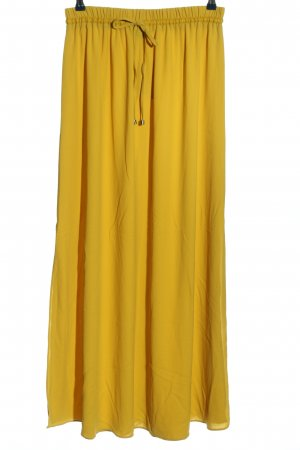 Zara Maxirock blassgelb Casual-Look